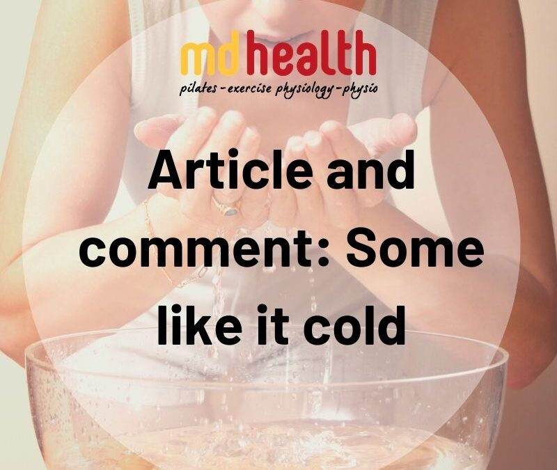 Article and comment_ Some like it cold