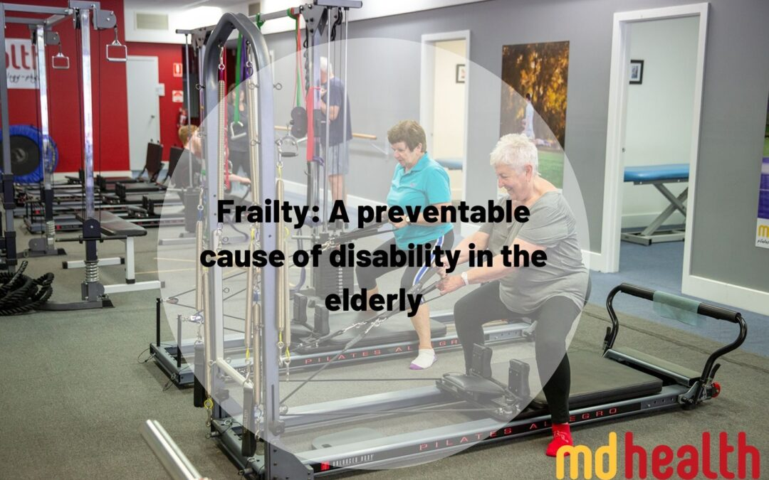 Frailty: A preventable cause of disability in the elderly