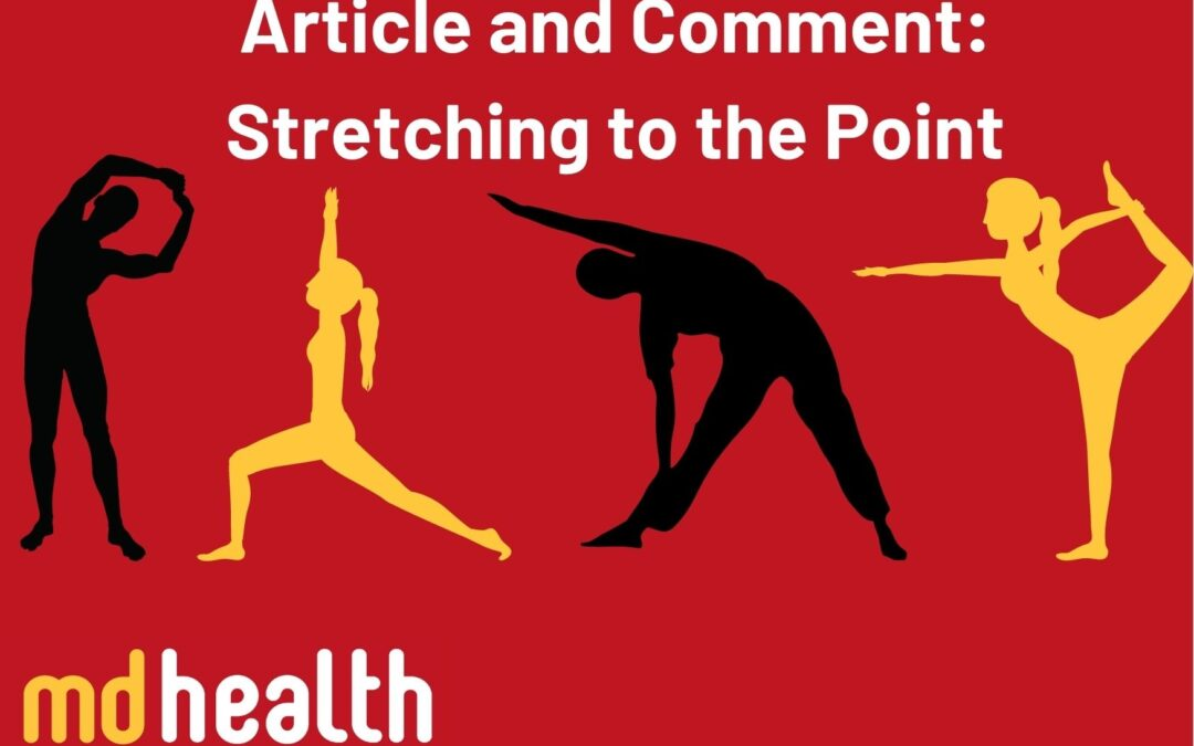 Article and comment: stretching to the point